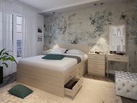 Кровать Интеро (12 ящиков)